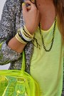 Yellow-pull-bear-bag-yellow-zara-top-chartreuse-zara-pants