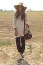 Camel-blanco-oxford-shoes-shoes-navy-skinny-zara-jeans-camel-floppy-hat-bers