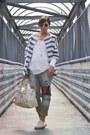 Silver-diy-jeans-ivory-balenciaga-bag