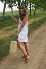 White-h-m-dress-beige-made-in-marrakech-purse-brown-zara-shoes-brown-h-m-b
