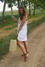 White-h-m-dress-beige-made-in-marrakech-purse-brown-zara-shoes-brown-h-m-b