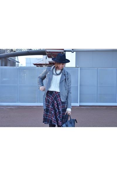 charcoal gray Forever 21 skirt - heather gray Forever 21 jacket