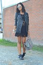 Black-persun-boots-black-sheinside-dress-silver-celine-bag