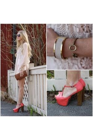Nelly clogs - Primark dress - key shaped disney couture bracelet