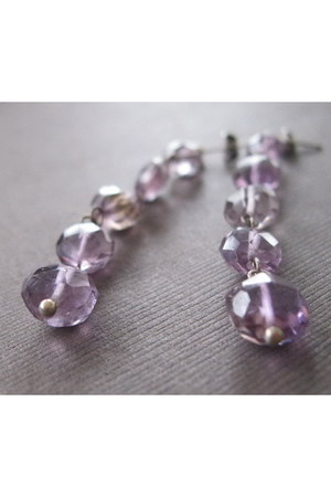 light purple Anne Maa Designs earrings