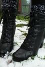 Light-blue-shorts-red-coat-navy-jumper-black-socks-black-boots-heather