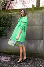 Lime-green-dress-chartreuse-coat-black-flats-black-belt-white-headband-a