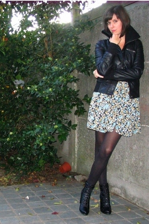 Pimkie jacket - Zara dress - tights - Pimkie shoes - alex monroe accessories