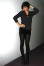 Black-h-m-shorts-pimkie-boots-gray-h-m-sweater-black-h-m-t-shirt-black-h