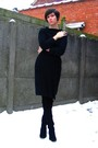 White-dress-black-sweater-black-tights-black-boots-black-earrings