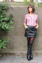 Pimkie blouse - Pimkie skirt - tights - boots
