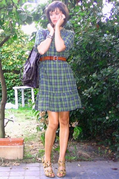 H&M dress - vintage belt - Pimkie purse - Zara shoes - H&M accessories