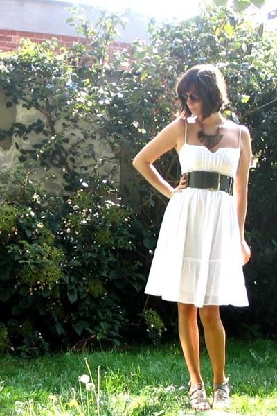 Pimkie dress - Pimkie belt - H&M necklace - shoes