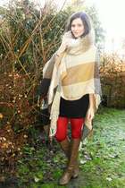 tan poncho coat