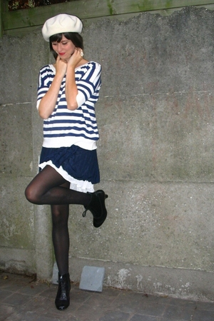 hat - Pimkie top - Pimkie dress - tights - shoes