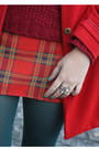 Teal-tights-red-coat-ruby-red-sweater-brick-red-skirt