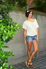 White-h-m-top-blue-diesel-shorts-brown-texto-shoes-white-h-m-accessories-