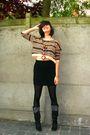 Beige-sweater-black-skirt-black-tights-black-boots-brown-necklace