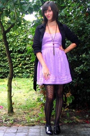 Zara dress - Pimkie coat - Pimkie tights - Pimkie shoes
