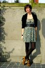 Yellow-zara-shoes-blue-zara-dress-black-h-m-blazer-black-cos-bracelet-bl