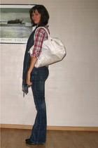 Pimkie blouse - Pimkie jeans - H&M purse - Pimkie scarf - Pimkie boots