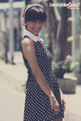 Black-polka-dot-dress-dress