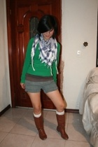 scarf - Zara sweater - shorts - Old Navy boots - socks