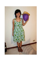 Clover dress dress - Gladiator Sandals - hat