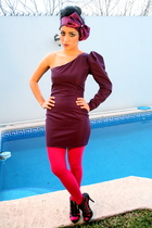 purple Lorena Bentez wardrobe accessories - purple Lorena Bentez wardrobe dress