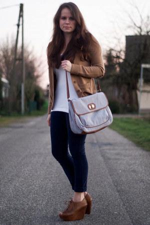 wool Zara cardigan - corduroy Rockkleidung pants - cotton Primark top