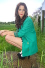 Vibrant-green-annie-and-the-mannequins-blazer-polka-dot-topshop-shorts-white