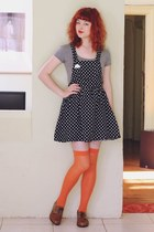 brown NAOT shoes - black vintage dress