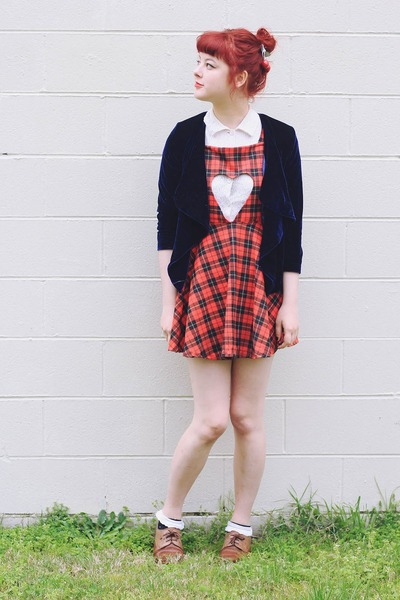 ruby red DIY skirt - brown NAOT shoes