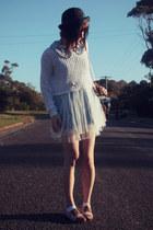 light blue lace dress wholesale dress - black bowler hat wholesale hat
