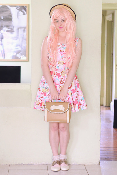 light pink DIY dress