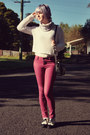 Maroon-wholesale-dress-jeans-white-crochet-forever-21-sweater