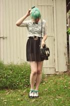black black chiffon Wholesale-Dress dress - black OASAP bag