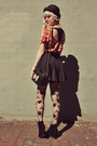 Carrot-orange-sugarlips-apparel-shirt-gray-forever-21-tights