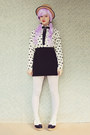 Black-creeper-oasap-shoes-beige-boater-wholesale-hat-white-oasap-tights