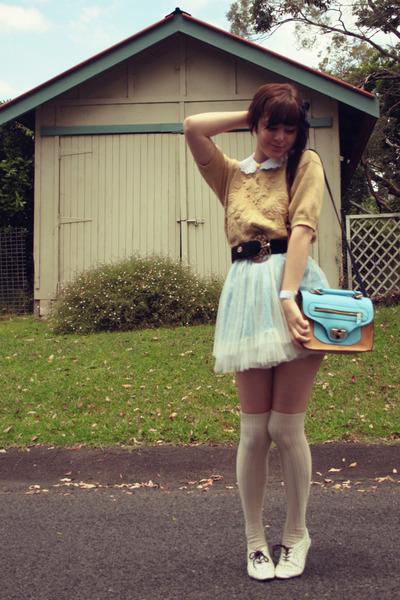 Chicwish dress - made by me hat - vintage sweater - wholesale bag - vintage belt