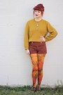 Brown-naot-shoes-mustard-thrifted-sweater