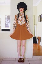 carrot orange vintage blouse