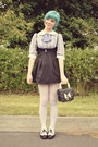 Black-pinafore-style-wholesale-dress-dress-black-oasap-bag