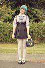 Black-pinafore-style-wholesale-dress-dress-black-oasap-bag