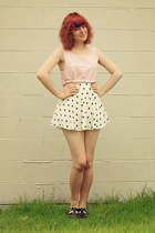 bubble gum cropped floral DIY top