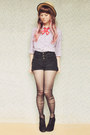 Ruby-red-embroidered-flapper-girl-tie-black-suede-lace-up-rubi-shoes-boots