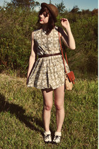 straw bowler Wholesale-Dress hat - handmade dress - Wholesale-Dress bag