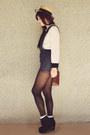 White-sheer-diy-socks-black-rubi-shoes-boots-gold-ebay-bag