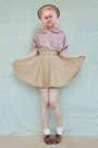 Beige-boater-wholesale-hat-cream-lace-frill-tutuanna-socks