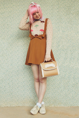 beige umbrella print wholesale sweater - beige wholesale boots